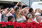 HALLANDALE BEACH, FL -DECEMBER 03:    Patrick K Marcondes and his connections celebrate as #5 Tormenta de Oro (FL) comes 1st across the finish line in  the $110K  Claiming Crown Glass Slipper Stakes  at Gulfstream Park on December 03, 2016 in Hallandale Beach, Florida. (Photo by Liz Lamont/Eclipse Sportswire/Getty Images)