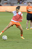 Houston, TX - Sunday Sept. 25, 2016: Carli Lloyd prior to a regular season National Women's Soccer League (NWSL) match between the Houston Dash and the Seattle Reign FC at BBVA Compass Stadium.