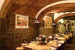 Interior, Hosteria Del Bricco Restaurant, Florence, Tuscany, Italy