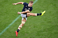 Darcy Graham of Scotland kicks the ball during the rugby Autumn Nations Cup's match between Italy and Scotland at Stadio Artemio Franchi on November 14, 2020 in Florence, Italy. Photo Andrea Staccioli / Insidefoto