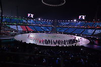 OLYMPIC GAMES: PYEONGCHANG: 09-02-2018, PyeongChang Olympic Stadium, Olympic Games, Opening Ceremony, Team Italy, ©photo Martin de Jong
