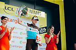 Alexis Gougeard (FRA) AG2R La Mondiale wins the day's combativity prize at the end of Stage 16 of the 2019 Tour de France running 177km from Nimes to Nimes, France. 23rd July 2019.<br /> Picture: ASO/Thomas Maheux   Cyclefile<br /> All photos usage must carry mandatory copyright credit (© Cyclefile   ASO/Thomas Maheux)