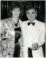 Charles Aznavour au Festival des Film du Monde pour le film YIDDISH CONNECTION de Paul Boujenah<br /> , aout 1986<br /> <br /> <br /> PHOTO : <br /> -  Agence Quebec Presse