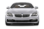 Car photography straight front view of a 2015 BMW 6 Series Experience 2 Door Coupe Front View