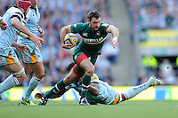Niall Morris of Leicester Tigers breaks in mid-field during the Aviva Premiership Final between Leicester Tigers and Northampton Saints at Twickenham Stadium on Saturday 25th May 2013 (Photo by Rob Munro)