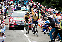 Sergio Higuita (COL/EF) & Sepp Kuss (USA/Jumbo-Visma) up the Col de Marie Blanque (1st Cat)<br /> <br /> Stage 9 from Pau to Laruns (153km)<br /> <br /> 107th Tour de France 2020 (2.UWT)<br /> (the 'postponed edition' held in september)<br /> <br /> ©kramon