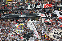 Frankfurter Fans - 18.08.2019: Eintracht Frankfurt vs. TSG 1899 Hoffenheim, Commerzbank Arena, 1. Spieltag Saison 2019/20 DISCLAIMER: DFL regulations prohibit any use of photographs as image sequences and/or quasi-video.