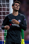 Alvaro Morata of Chelsea FC reacts during the UEFA Champions League 2017-18 match between Atletico de Madrid and Chelsea FC at the Wanda Metropolitano on 27 September 2017, in Madrid, Spain. Photo by Diego Gonzalez / Power Sport Images