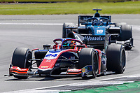 16th July 2021; Silverstone Circuit, Silverstone, Northamptonshire, England; F2 British Grand Prix, Free Practice;Bent Viscaal in his Trident Dallara F2 2018 is followed by Roy Nissany in his DAMS Dallara F2 2018
