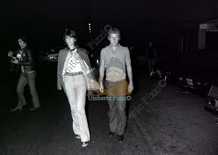 STEFANIA SANDRELLI CON NICKI PENDE<br /> ROMA 1973