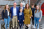 Tadgh Lucey from Gaelsscoil Mhic Easmainn NS received his First Holy Communion in St John's Church on Saturday standing with l to r: Hannah Mai and Niall Lucey, Jimmy and Doireann Brown, Seamus and Ellen Lucey.