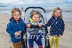 Enjoying a stroll in Ballyheigue on Saturday, l to r: Fionn, Danny and Rosie O'Connor