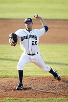 June 24, 2009:  Pitcher Ryan Anthony of the Mahoning Valley Scrappers during a game at Eastwood Field in Niles, OH.  The Scrappers are the NY-Penn League Short-Season Single-A affiliate of the Cleveland Indians.  Photo by:  Mike Janes/Four Seam Images