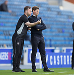 Rangers v St Mirren: Rangers coach Michael Beale gives info to manager Steven Gerrard
