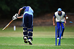 NELSON, NEW ZEALAND - FEBRUARY 22: Premiership Cricket - ACOB v Nelson College 1st XI. Saturday 22 February 2020. Botanics Garden, Nelson, New Zealand. (Photo by Chris Symes/Shuttersport Limited)