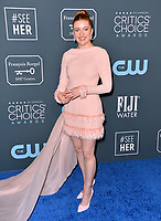 SANTA MONICA, USA. January 12, 2020: Kennedy McMann at the 25th Annual Critics' Choice Awards at the Barker Hangar, Santa Monica.<br /> Picture: Paul Smith/Featureflash