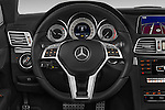 Car pictures of steering wheel view of a 2015 Mercedes Benz E Class AMG Line 2 Door Convertible 2WD Steering Wheel