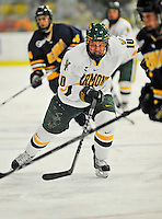 15 February 2008: University of Vermont Catamounts' forward Colin Vock, a Sophomore from Plymouth, MI, in action against the Merrimack College Warriors at Gutterson Fieldhouse in Burlington, Vermont. The Catamounts defeated the Warriors 4-1 in the first game of their 2-game weekend series...Mandatory Photo Credit: Ed Wolfstein Photo