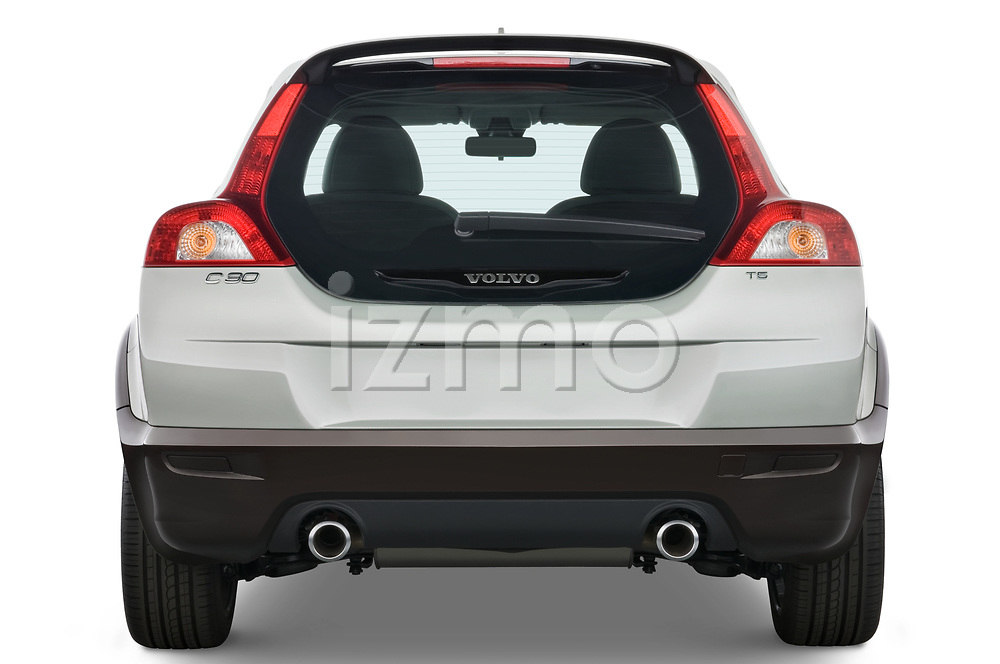Straight rear view of 2008 Volvo C30 T5 Version 2.0 2 Door Coupe stock images