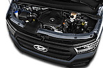 Car Stock 2015 Hyundai H350 Travel Plus Pack 4 Door Cargo Van 2WD Engine  high angle detail view