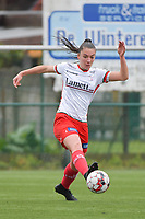 Romy Camps (3) of Zulte Waregem pictured during a female soccer game between SV Zulte - Waregem and Eendracht Aalst on the 9 th matchday in play off 2 of the 2020 - 2021 season of Belgian Scooore Womens Super League , saturday 22 nd of May 2021  in Zulte , Belgium . PHOTO SPORTPIX.BE | SPP | DIRK VUYLSTEKE