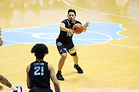 CHAPEL HILL, NC - FEBRUARY 24: Jose Perez #55 of Marquette passes the ball during a game between Marquette and North Carolina at Dean E. Smith Center on February 24, 2021 in Chapel Hill, North Carolina.