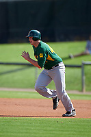 Siena Saints first baseman Joe Drpich (47) during a game against the UCF Knights on February 21, 2016 at Jay Bergman Field in Orlando, Florida.  UCF defeated Siena 11-2.  (Mike Janes/Four Seam Images)