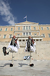 Changing of the guard in front of Parliament building. Athens. Grecce