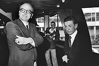 - Bettino Craxi, segretario del PSI (Partito Socialista Italiano) con Enrico Berlinguer, segretario del PCI (Partito Comunista Italiano), Strasburgo, 1977<br />