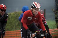 Tosh Van der Sande (BEL/Lotto-Soudal) up La Redoute (1650m/9.7%)<br /> <br /> 102nd Liège-Bastogne-Liège 2016
