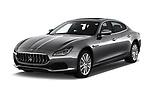 2018 Maserati Quattroporte S 2WD 4 Door Sedan angular front stock photos of front three quarter view