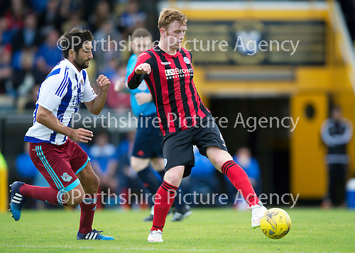 St Johnstone v Real Sociadad...12.07.15  Bayview, Methil (Home of East Fife FC)<br /> Liam Craig and Markel Bergara<br /> Picture by Graeme Hart.<br /> Copyright Perthshire Picture Agency<br /> Tel: 01738 623350  Mobile: 07990 594431