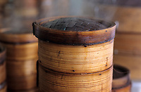 Asie/Singapour/Singapour: Seng Poh - Détail de paniers pour la cuisine vapeur