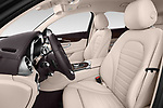 Front seat view of a 2018 Mercedes Benz GLC Coupe 350 e 5 Door SUV front seat car photos