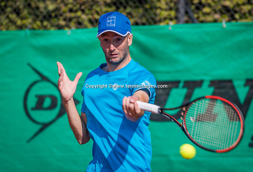 Hilversum, The Netherlands, September 2, 2018,  Tulip Tennis Center, NKS, Final men 35+ , Romano Frantzen (NED)<br /> Photo: Tennisimages/Henk Koster