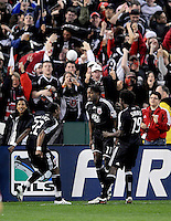 DC United  forward Luciano Emilio (11) celebrates after scoring in the 7th minute of the game,Chicago Fire tied DC United 1-1 at  RFK Stadium, Saturday March 28, 2009.