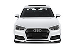 Car photography straight front view of a 2018 Audi A4 Premium 4 Door Sedan