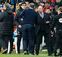 Blackburn Rovers manager Tony Mowbray shakes the hand of Newcastle United manager Rafa Benítez, after the match<br /> <br /> Photographer Alex Dodd/CameraSport<br /> <br /> Emirates FA Cup Third Round - Newcastle United v Blackburn Rovers - Saturday 5th January 2019 - St James' Park - Newcastle<br />  <br /> World Copyright © 2019 CameraSport. All rights reserved. 43 Linden Ave. Countesthorpe. Leicester. England. LE8 5PG - Tel: +44 (0) 116 277 4147 - admin@camerasport.com - www.camerasport.com