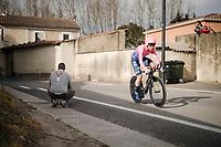 Lawson Craddock (USA/EF Education First) <br /> <br /> Stage 5 (ITT): Barbentane to Barbentane (25km)<br /> 77th Paris - Nice 2019 (2.UWT)<br /> <br /> ©kramon