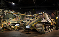 BNPS.co.uk (01202) 558833. <br /> Pic: TankMuseum/BNPS<br /> <br /> Pictured: The War Storied exhibition at the The Tank Museum, Bovington. <br /> <br /> A Union Jack flag flown in defiance during the Siege of Tobruk is being displayed for the first time alongside a Nazi swastika flag captured during its liberation.<br /> <br /> The Allies held out for eight months in the face of an Afrika Corps onslaught until they were freed by the 8th Army in November 1941.<br /> <br /> The German commander Erwin Rommel was surprised by the aggressive attack, codenamed Operation Crusader, and forced to retreat at a pivotal juncture of the North African campaign.<br /> <br /> In the ensuing chaos, the swastika flag was captured from an 88mm flak gun locker by the advancing 8th Royal Tank Regiment.<br /> <br /> The flags will go on show from next month as part of the new World War Two: War Stories exhibition at the Tank Museum in Bovington, Dorset.