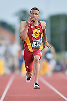 Andre De Grasse of USC competes in 100 meter prelims during West Preliminary Track and Field Championships, Friday, May 29, 2015 in Austin, Tex. (Mo Khursheed/TFV Media via AP Images)