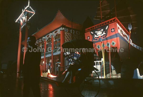 1964 World's Fair, Flushing Meadows, Chinese Pavilion. Photo by John G. Zimmerman.