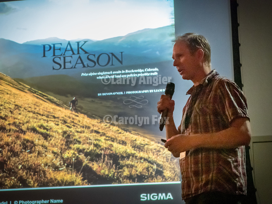 Liam Doran outdoor photographer sponsored by Sigma during the Friday symposium at STW XXXI, Winnemucca, Nevada, April 12, 2019.<br /> .<br /> .<br /> .<br /> .<br /> @shootingthewest, @winnemuccanevada, #ShootingTheWest, @winnemuccaconventioncenter, #WinnemuccaNevada, #STWXXXI, #NevadaPhotographyExperience, #WCVA