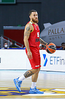 13th October 2021; Wizink Center; Madrid, Spain; Turkish Airlines Euroleague Basketball; game 3; Real Madrid versus AS Monaco; Mike James (AS Monaco) brings the ball forward