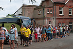 St Albans 0 Watford 5, 26/07/2014. Clarence Park, Pre Season Friendly. Pre Season friendly between St Albans City and Watford from Clarence Park Stadium. Fans queue for tickets. Watford won the game 5-0. Photo by Simon Gill.