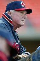 Cleveland Indians Manager Charlie Manuel before a 2002 MLB season game against the Los Angeles Dodgers at Dodger Stadium, in Los Angeles, California. (Larry Goren/Four Seam Images)