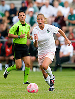 St Louis Athletica midfielder Amanda Cinalli (15) handles the ball during a WPS match at Anheuser-Busch Soccer Park, in St. Louis, MO, June 7 2009.  Athletica won the match 1-0.