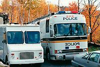 3 personnes membres de l'Ordre du Temple solaire sont retrouvees assassinees et deux suicidees (les meurtriers des trois premieres) dans un chalet incendiee , le 30 septembre 1994  au 199 chemin Belisle a Morin Heights.<br /> <br /> PHOTO :  Agence Quebec Presse