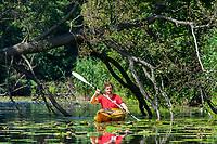 Paddling on Spree River, Brandenburg, Germany