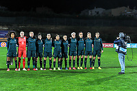 20200307  Parchal , Portugal : Team Italy ( Italian defender Sara Gama (3) , Italian defender Elena Linari (5) , Italian defender Alia Guagni (7) , Italian midfielder Martina Rosucci (8) , Italian forward Cristiana Girelli (10) , Italian forward Barbara Bonansea (11) , Italian goalkeeper Katja Schroffenegger (12) , Italian defender Elisa Bartoli (13) , Italian Stefania Tarenzi (14) , Italian midfielder Marta Mascarello (15) , Italian midfielder Valentina Cernoia (21) ) pictured before the female football game between the national teams of New Zealand called the Football Ferns and Italy , called the Azzurre on the second matchday of the Algarve Cup 2020 , a prestigious friendly womensoccer tournament in Portugal , on saturday 7 th March 2020 in Parchal , Portugal . PHOTO SPORTPIX.BE | STIJN AUDOOREN